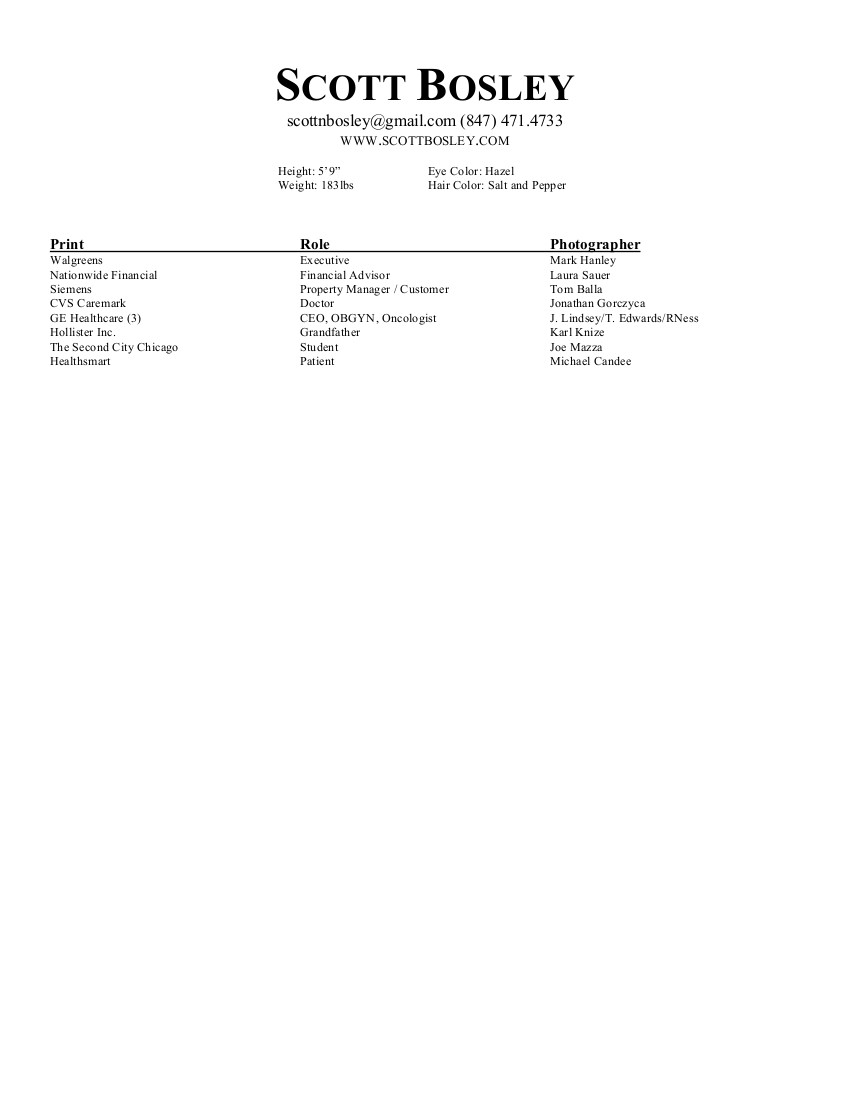 Print Resume Scott Bosley